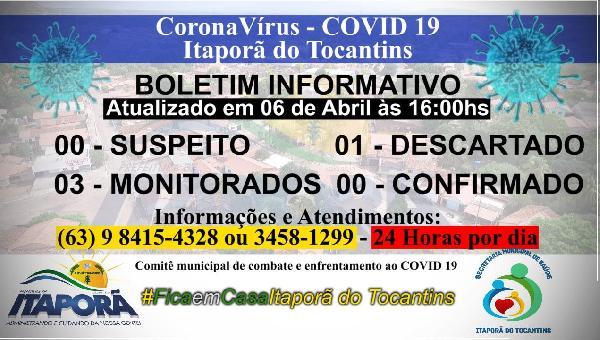 Boletim COVID-19 dia 06 de Abril