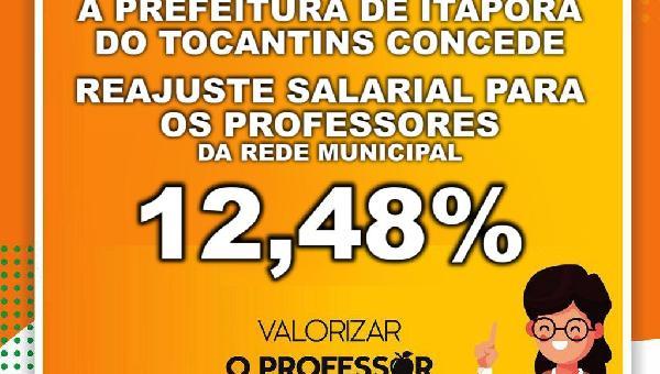 REAJUSTE SALARIAL PARA OS PROFESSORES